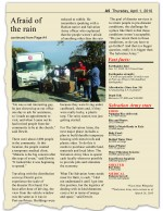 Afraid of the Rain story for Salvation Army fundraising brochure