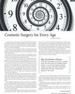 Cosmetic Surgery for Every Age story for Yoga & Spa magazine